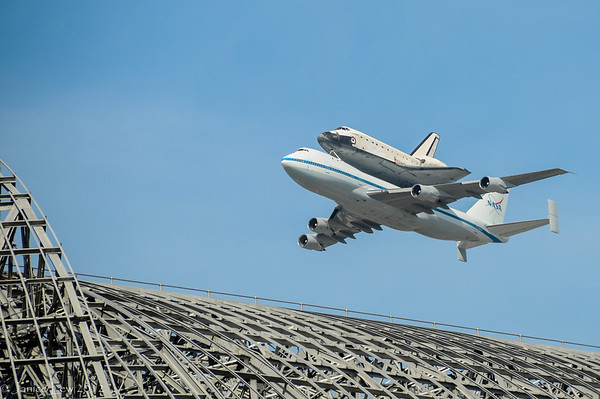 Shuttle Endeavour Flyover NASA Ames - by Janice Lew